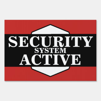 Home | Business Security System Active Sign
