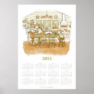 Home Cafe   2015 Calendar Print