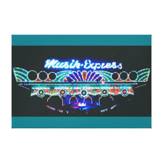"Home Canvas Wall Art ""Musik-Express"""