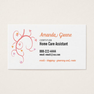 Home Care Assistant caregiver Business Card