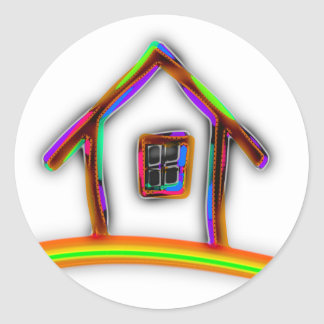 Home Classic Round Sticker