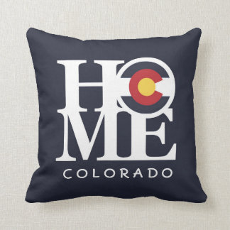 HOME Colorado Indigo (Deep Blue) Pillow with Text