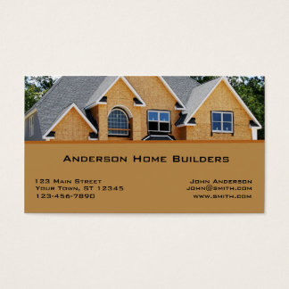 New house business cards and business card templates for Home builder business cards