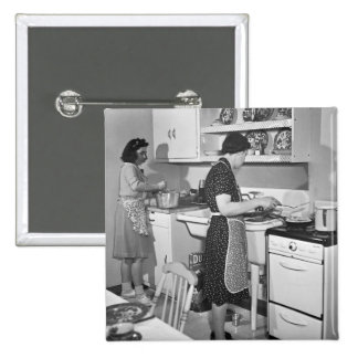 Home Cooking 1942 Pinback Button