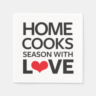 Home Cooks Season With Love Disposable Napkin
