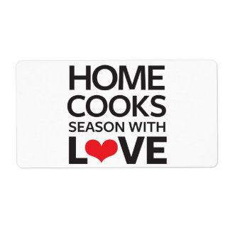 Home Cooks Season With Love Shipping Label