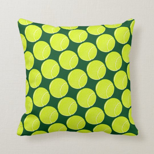 home decor tennis yellow balls throw pillow