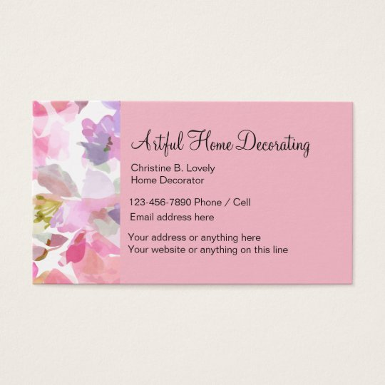 Home Decorating Theme Business Card