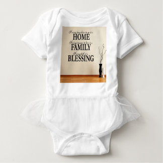 Home + Family = Blessing Baby Bodysuit