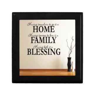 Home + Family = Blessing Gift Box