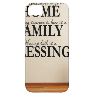 Home + Family = Blessing iPhone 5 Case