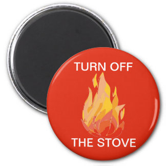 Home Fire Safety Stove Magnet