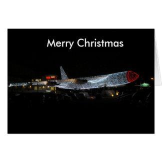Home for Christmas Plane Card
