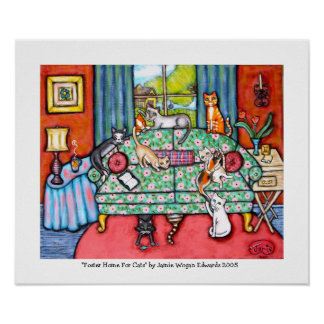 Home For Foster Cats byJamie Wogan Edwards Poster