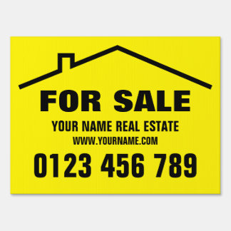 Home for sale yard sign for real estate agents