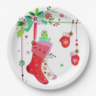 Home for the Holidays Christmas Paper Plates
