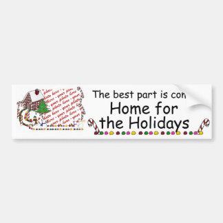 Home For The Holidays Photo Frame Car Bumper Sticker