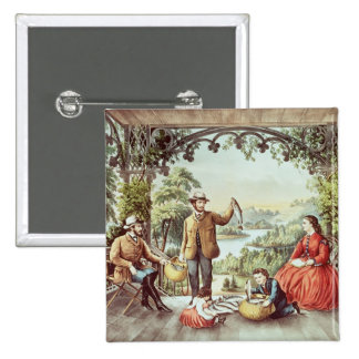 Home from the Brook, The Lucky Fishermen 2 Inch Square Button