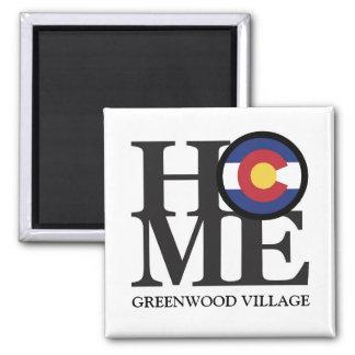 "HOME Greenwood Village Colorado 4x4"" Magnet"
