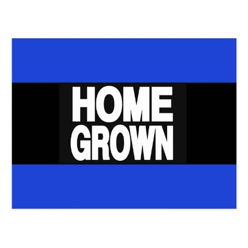 Home Grown 2 Blue Postcards