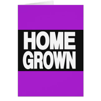 Home Grown 2 Purple Greeting Card