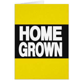 Home Grown 2 Yellow Greeting Card