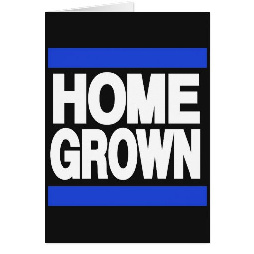 Home Grown Blue Greeting Cards