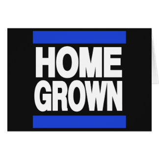 Home Grown Blue Greeting Card