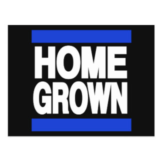 Home Grown Blue Postcard