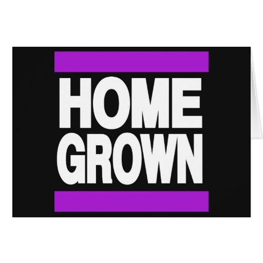 Home Grown Purple Greeting Card