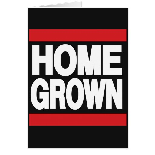 Home Grown Red Greeting Card