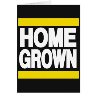 Home Grown Yellow Greeting Card