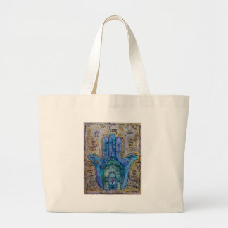 Home Hamsa Large Tote Bag