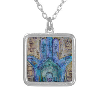 Home Hamsa Silver Plated Necklace