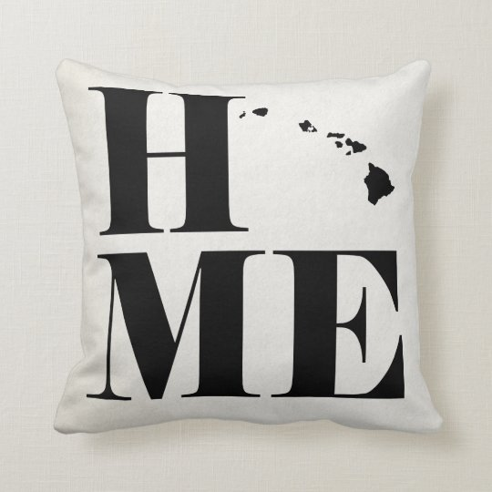 Home Hawaii State Pillow CHOOSE YOUR COLOR
