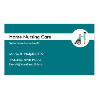 Senior care business cards and business card templates for Nursing business cards
