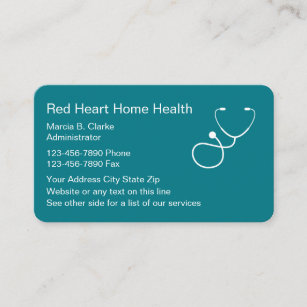Nurse service business cards business card printing zazzle ca home health nursing services business card reheart Gallery