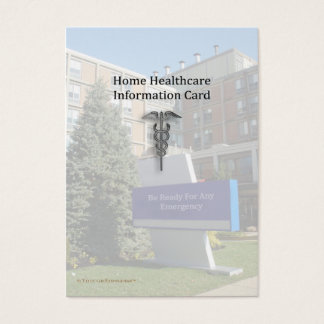 Home Healthcare Info Pocket Card