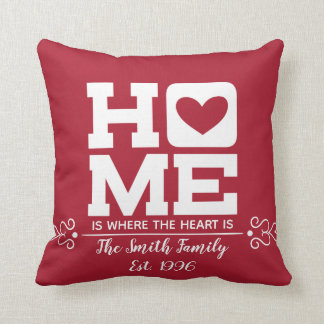 Home Heart Valentine's Day Throw Pillow