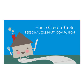 Home house personal chef catering business cards