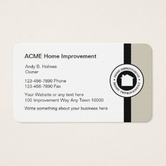 Home remodeling business cards and business card templates for Home improvement business card template