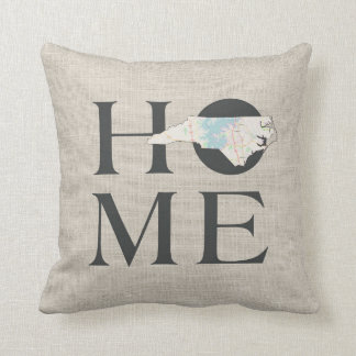 HOME in North Carolina Throw Pillow