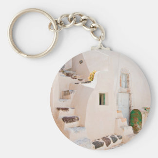 Home in Santorini Keychain