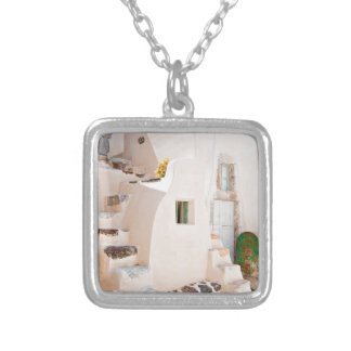 Home in Santorini Silver Plated Necklace