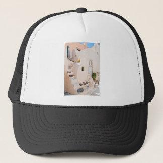 Home in Santorini Trucker Hat