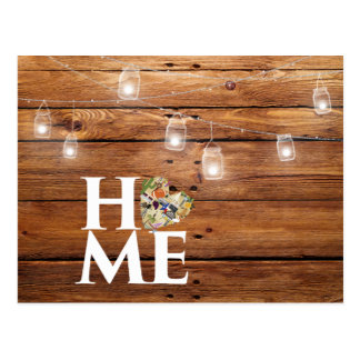 Home in Texas Rustic Postcard
