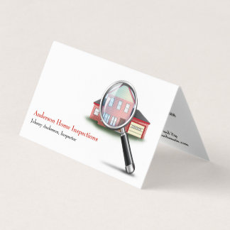 Home Inspection Inspector Business Card