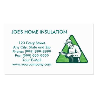 home insulation technician business card