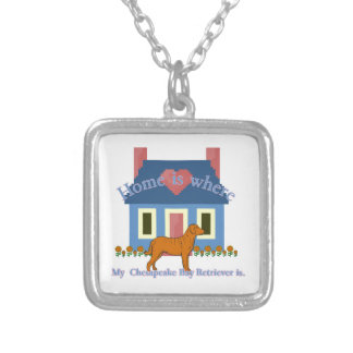 Home Is Chesapeake Bay Retriever Silver Plated Necklace