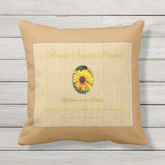 Home Is My Castle Throw Pillow